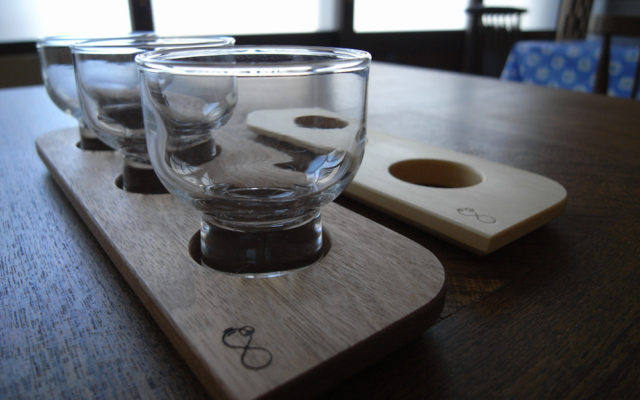 日本酒飲み比べ用トレイ